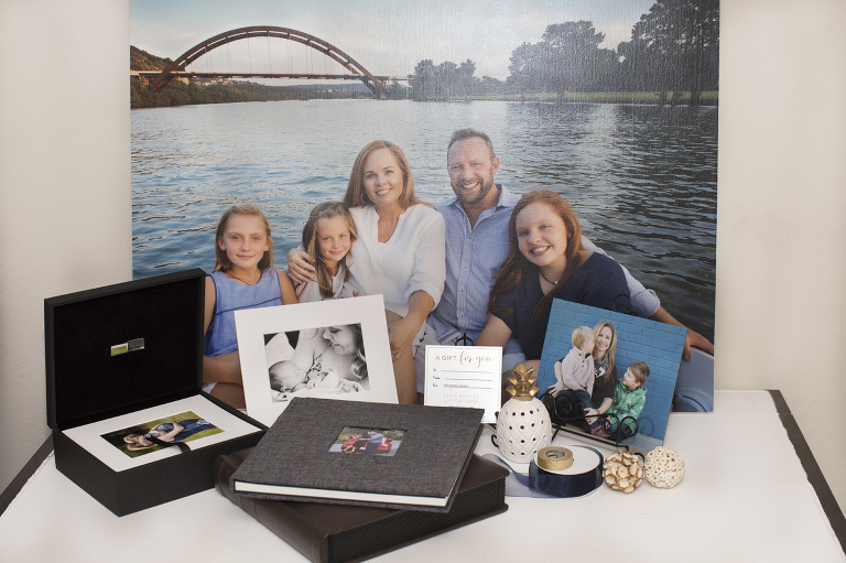Austin family photographers professional products albums canvases folio boxes prints