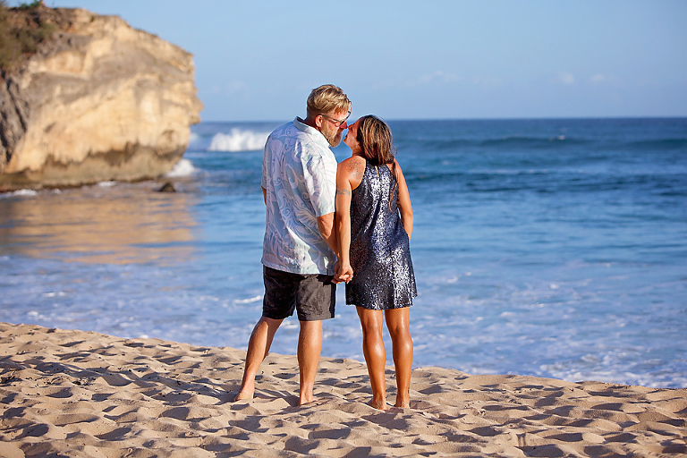 How to Hire an Austin Couples Photographer Kauai Hawaii Engagement Proposal Beach Portrait Session