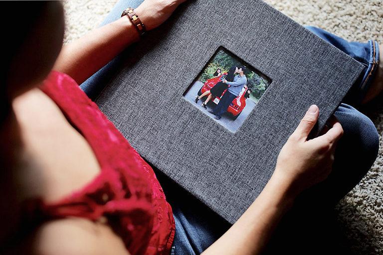 Portrait Photography Album holding an album for viewing