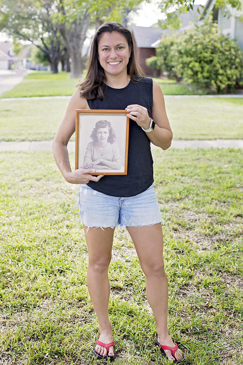 My Why Portrait Photography holding a framed print of my grandmother