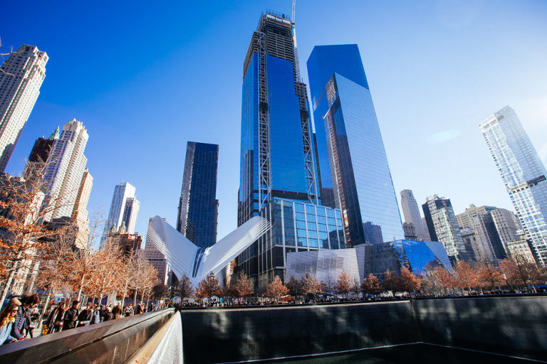 Top 10 Things to do in New York City 9/11 Memorial with Oculus in background
