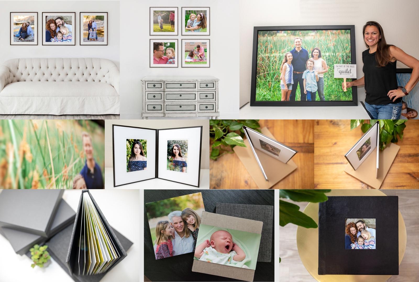 Austin Family Photographers Austin Photographers framed portraits albums image folio canvas art