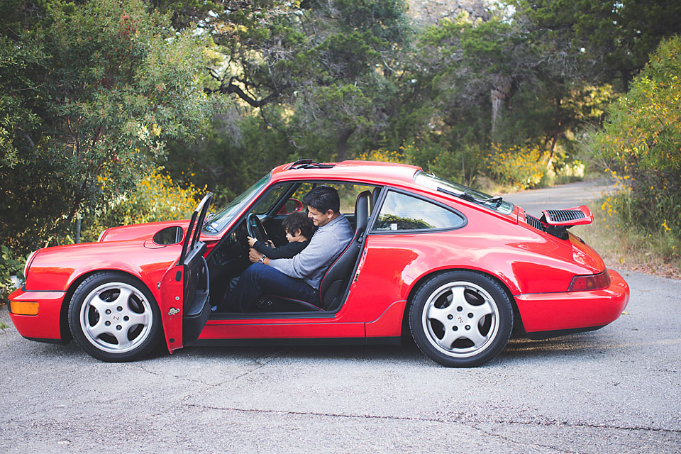 7 Father and Son Photo Ideas to Inspire you example of dad with son in a Porsche