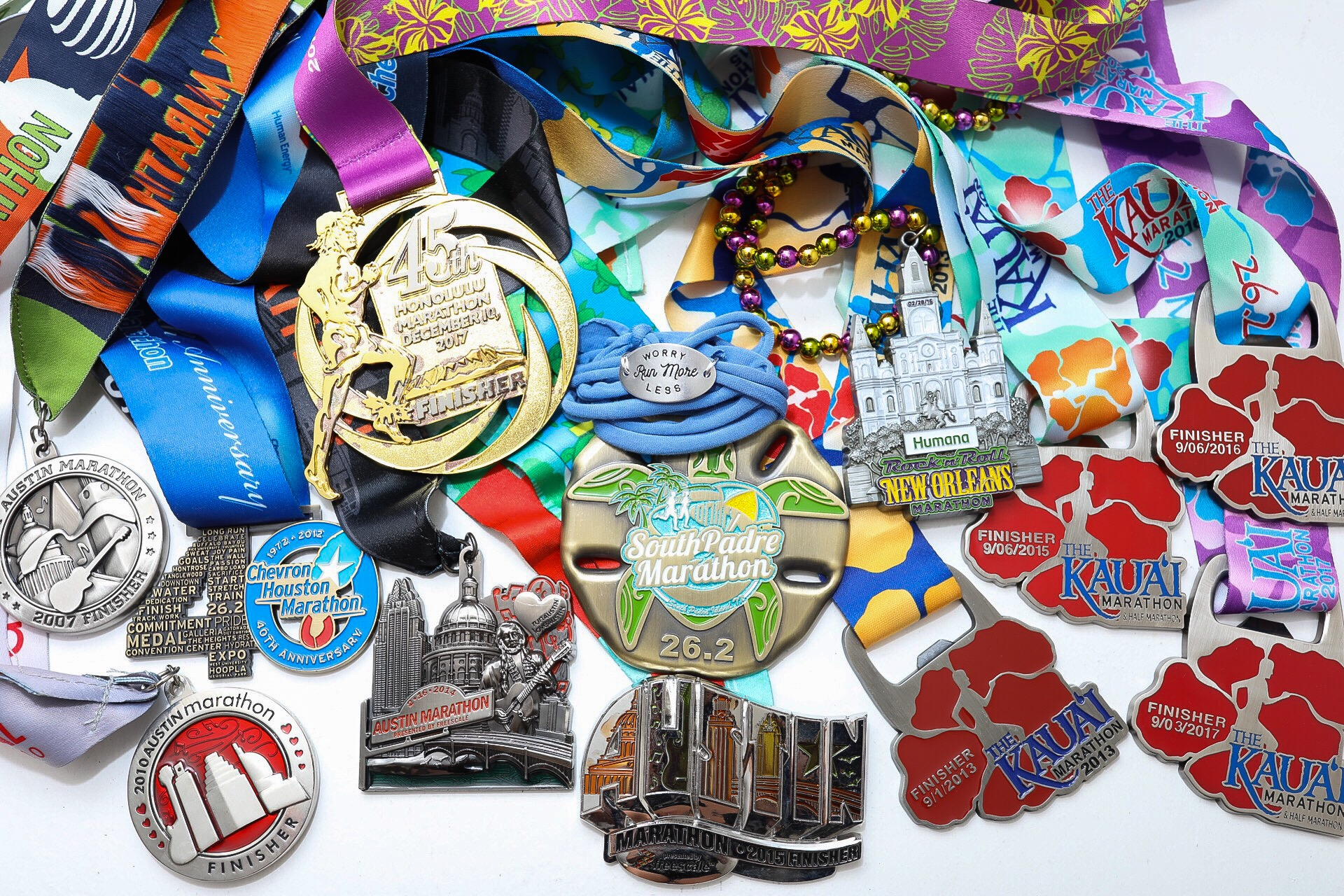 Global Running Day - Momentum Jewelry - Worry Less Run More - Motivational Wrap and marathon finisher medals