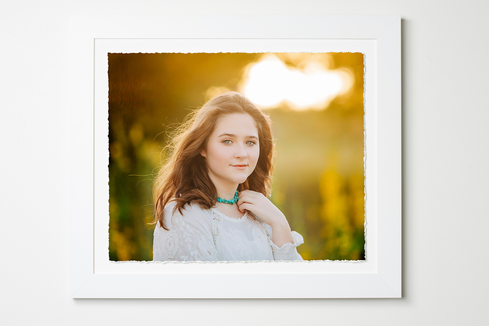 Austin Family Photographer Teenager Portrait framed torm edge picture