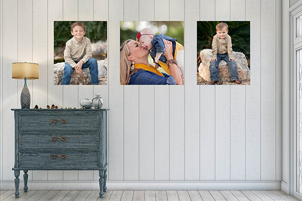 Austin Family Photographer gallery wrapped canvas wall