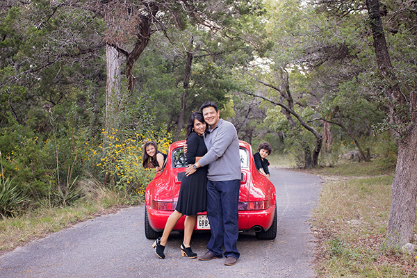 Style your Austin Family Photography Session with a Porsche