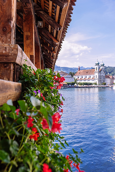 Lucerne Switzerland in a Day Chapel Bridge and Jesuit Church