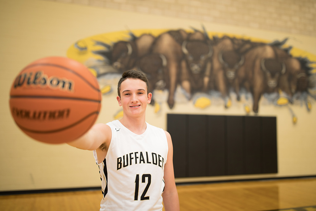 Giddings High School male senior portraits for basketball